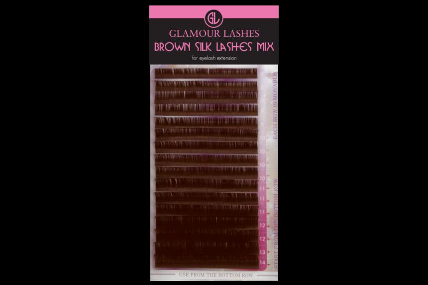 Brown Silk Lashes Mix
